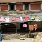 Pyykit kuivumassa