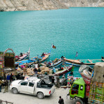 Attabad -järven venelaituri